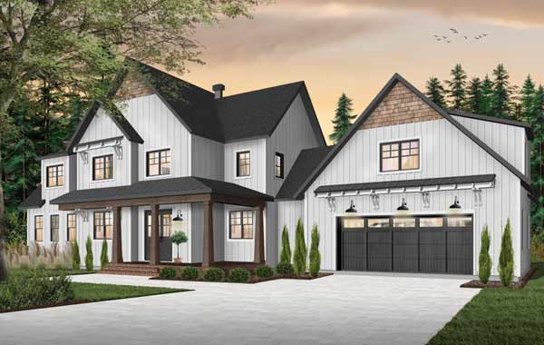 Modern-farmhouse Style House Plans Plan: 5-1379