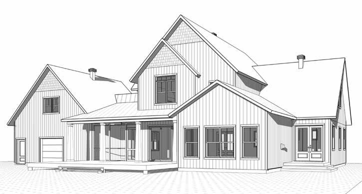 Rear Elevation Plan: 5-1379