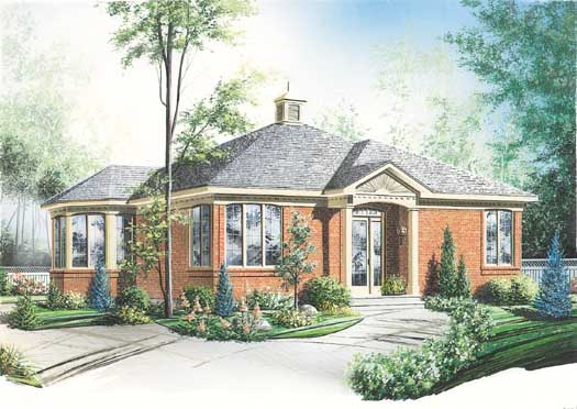 Traditional Style Home Design Plan: 5-138