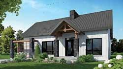Mountain-or-Rustic Style Home Design Plan: 5-1380