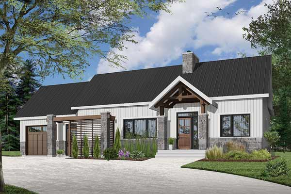 Mountain-or-rustic Style House Plans Plan: 5-1381