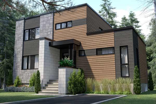 Modern Style House Plans Plan: 5-1384