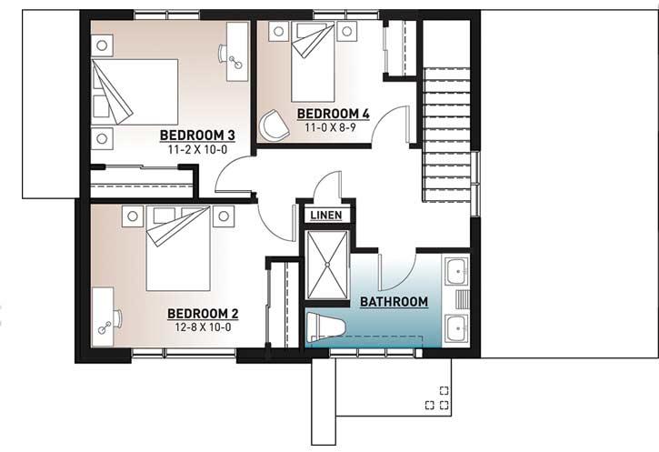 Upper/Second Floor Plan: 5-1384