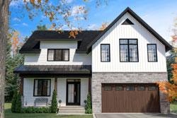 Modern-Farmhouse Style Home Design Plan: 5-1387