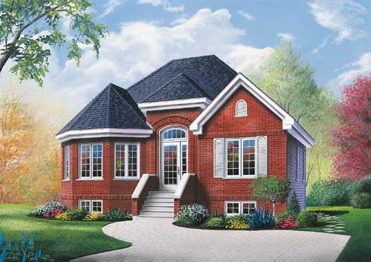 European Style Home Design Plan: 5-139