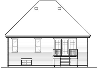 Rear Elevation Plan: 5-139