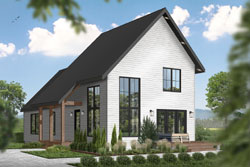 Contemporary Style Floor Plans Plan: 5-1396