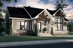 Ranch Style Home Design Plan: 5-1397