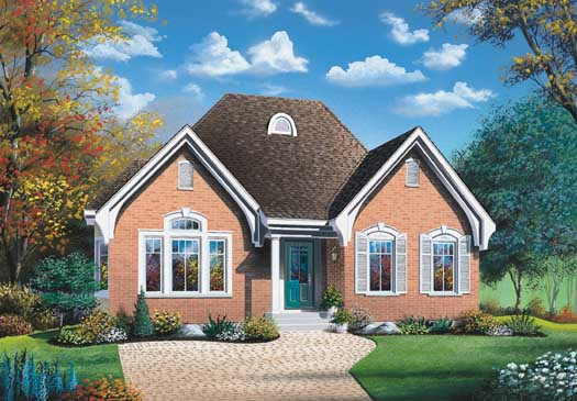European Style House Plans Plan: 5-140