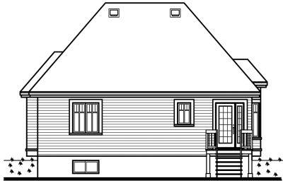 Rear Elevation Plan: 5-140