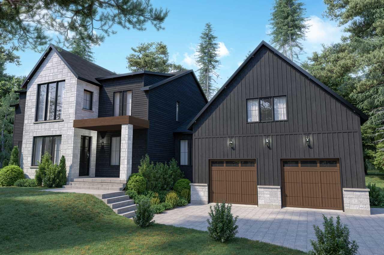 Modern Style House Plans Plan: 5-1400