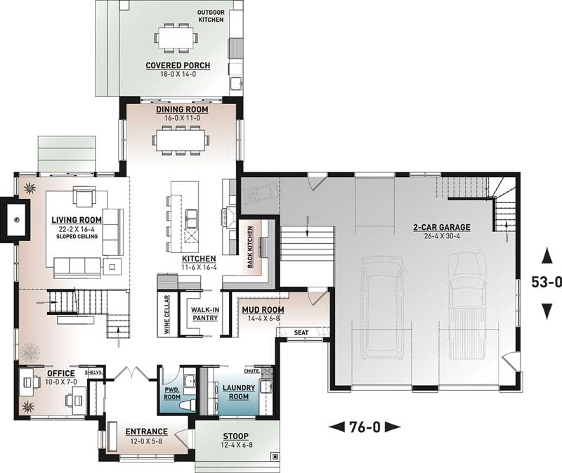 Main Floor Plan: 5-1400