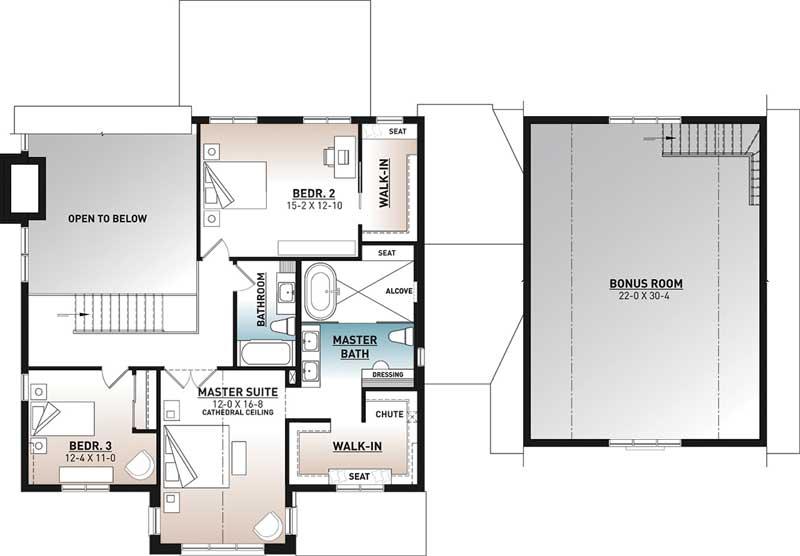 Upper/Second Floor Plan: 5-1400