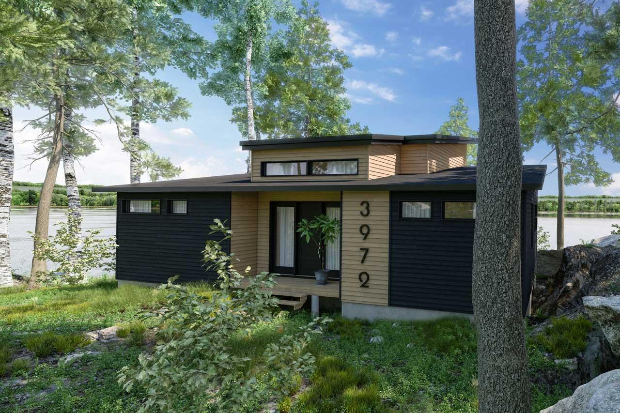 Modern Style House Plans Plan: 5-1402