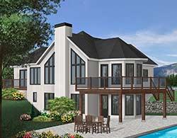 Contemporary Style Home Design Plan: 5-1403