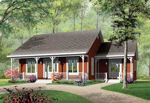 Country Style Floor Plans Plan: 5-141