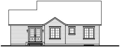 Rear Elevation Plan: 5-141