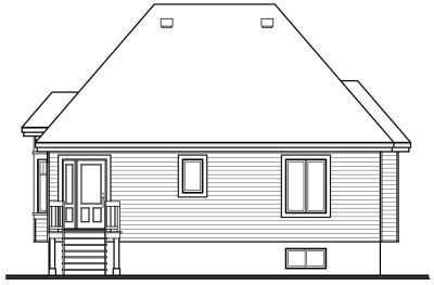 Rear Elevation Plan: 5-143