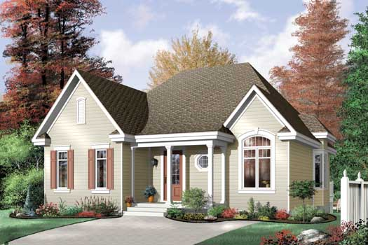 Traditional Style Home Design Plan: 5-144