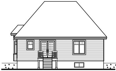Rear Elevation Plan: 5-144