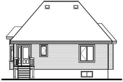 Rear Elevation Plan: 5-145