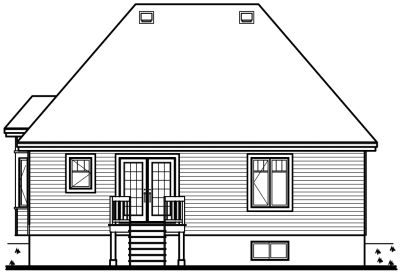 Rear Elevation Plan: 5-147