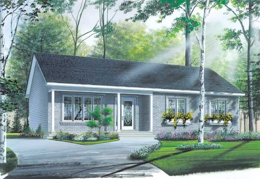 Ranch Style Home Design Plan: 5-150