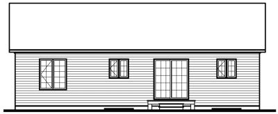 Rear Elevation Plan: 5-150