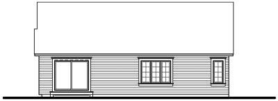 Rear Elevation Plan: 5-153