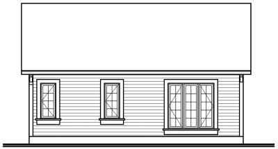 Rear Elevation Plan: 5-155
