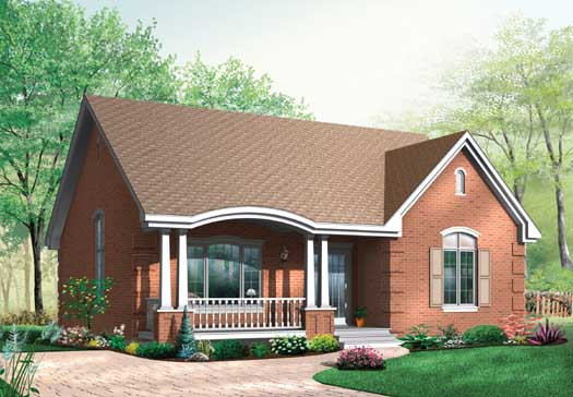 European Style House Plans Plan: 5-156
