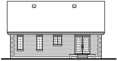 Rear Elevation Plan: 5-156