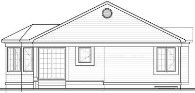 Rear Elevation Plan: 5-157