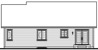 Rear Elevation Plan: 5-158