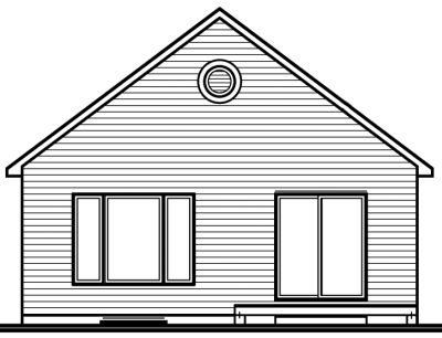 Rear Elevation Plan: 5-159