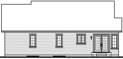 Rear Elevation Plan: 5-160