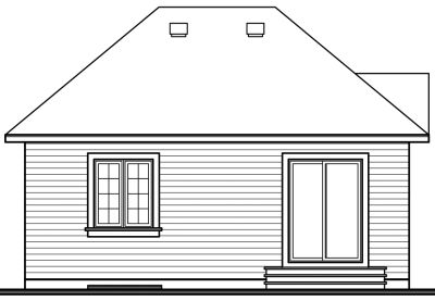 Rear Elevation Plan: 5-161