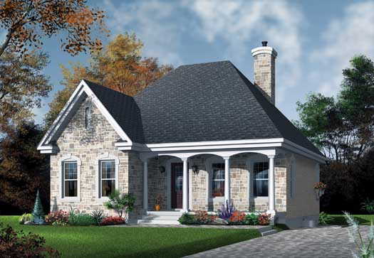 European Style Home Design Plan: 5-162