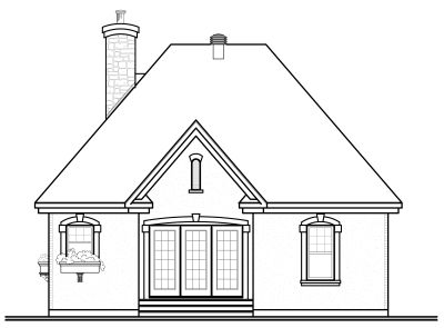 Rear Elevation Plan: 5-162