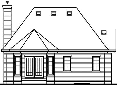 Rear Elevation Plan: 5-164