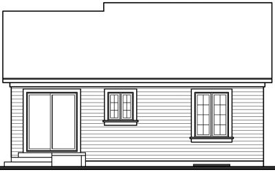 Rear Elevation Plan: 5-165