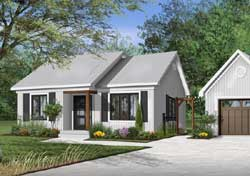 Traditional Style Home Design Plan: 5-165