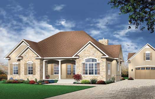 Traditional Style House Plans Plan: 5-166