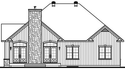 Rear Elevation Plan: 5-166