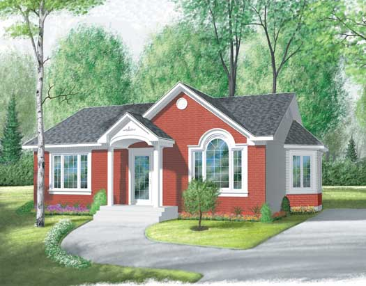 Country Style Home Design Plan: 5-167