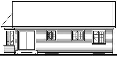 Rear Elevation Plan: 5-167