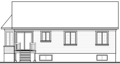 Rear Elevation Plan: 5-168