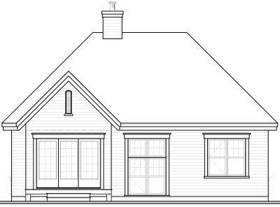 Rear Elevation Plan: 5-169