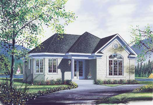 Traditional Style Home Design Plan: 5-170