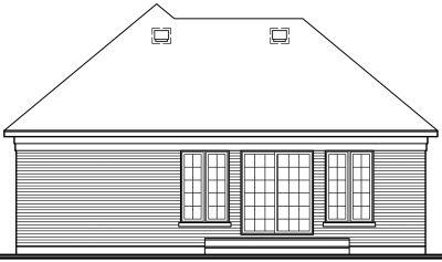 Rear Elevation Plan: 5-170